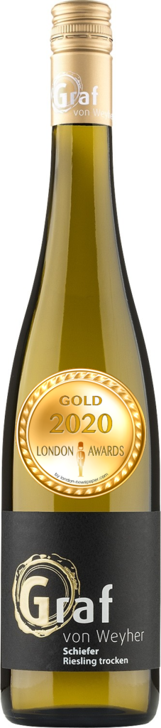 2017 Schiefer Riesling Dry was awarded Gold in London Awards 2020, by London Newspaper.