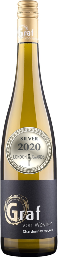 2018 Chardonnay Dry was awarded Silver in London Awards 2020, by London Newspaper.