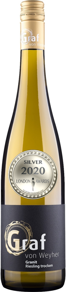 2018 Granite Riesling Dry was awarded Silver in London Awards 2020, by London Newspaper.