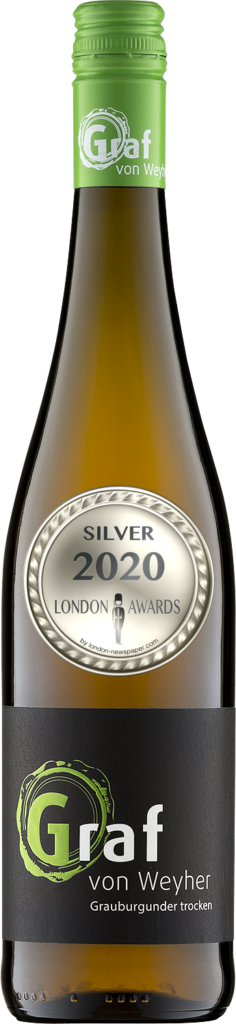 2019 Grauburgunder Dry was awarded Silver in London Awards 2020, by London Newspaper.