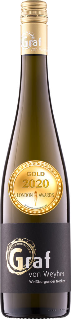 2019 Weißburgunde Dry was awarded Gold in London Awards 2020, by London Newspaper.