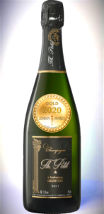 Champagne Grand Cru AOP Brut has received a Gold Awards in London Awards 2020.