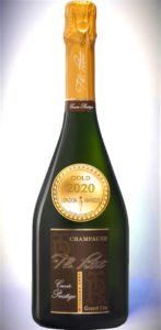 Champagne Grand Cru AOP Cuvée Prestige Extra-Brut millésime 2008 has received a Gold Awards in London Awards 2020.