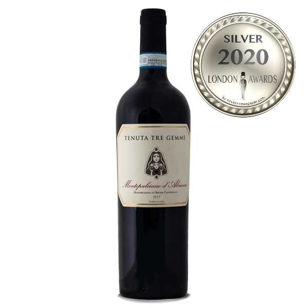 Montepulciano d'Abruzzo DOC 2017 has received a Silver Award in London Awards 2020, awarded by London Newspaper.