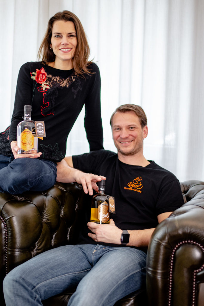 Roland Braza, CEO of Taunus-Gin GmbH together with his wife.